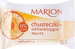 """Parfüm, Parfüméria, kozmetikum Frissítő törlőkendő """"Fruits"""", 15db - Marion"""