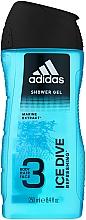 Parfüm, Parfüméria, kozmetikum Tusfürdő - Adidas Ice Dive Body, Hair and Face Shower Gel