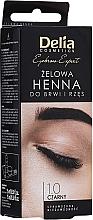 Parfüm, Parfüméria, kozmetikum Gél szemöldökfesték, fekete - Delia Eyebrow Tint Gel ProColor 1.0 Black