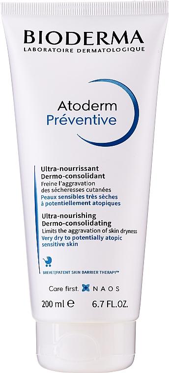 Tápláló krém az ekcéma megelőzésére - Bioderma Atoderm Preventive Nourishing Cream Dermo-Consolidating