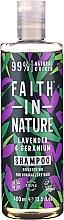 """Parfüm, Parfüméria, kozmetikum Sampon normál és száraz hajra """"Levendula és muskátli"""" - Faith In Nature Lavender & Geranium Shampoo"""