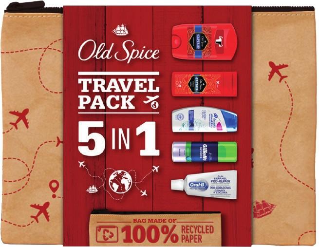 Szett - Old Spice Travel Pack 5 in 1 (sh/f/100ml + sh/gel/50ml + deo/50g + shm/90ml + t/paste/15ml)