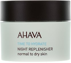 Parfüm, Parfüméria, kozmetikum Tápláló éjszakai krém - Ahava Time To Hydrate Night Replenisher Normal to Dry Skin