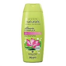 """Parfüm, Parfüméria, kozmetikum Öblítő- sampon 2 az 1-ben """"Lótusz virágok és bazilikum"""" - Avon Naturals Hair Care Shampoo"""