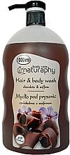 """Parfüm, Parfüméria, kozmetikum Sampon és tusfürdő """"Csokoládé és sáfrány"""" - Bluxcosmetics Naturaphy Hair & Body Wash"""
