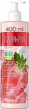 Parfüm, Parfüméria, kozmetikum Hidratáló-simító krém-joghurt testre - Eveline Cosmetics 99% Natural Strawberry