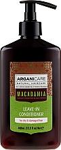 Parfüm, Parfüméria, kozmetikum Öblítést nem igénylő kondicionáló száraz és sérült hajra - Arganicare Macadamia Leave-in Conditioner