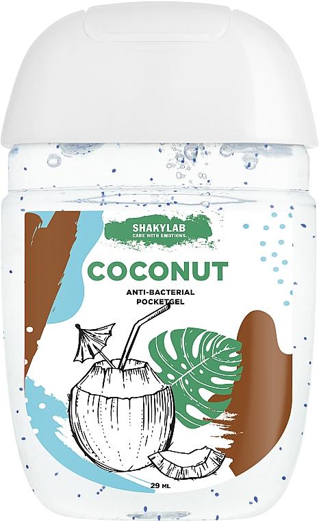 """Kézfertőtlenítő """"Coconut"""" - SHAKYLAB Anti-Bacterial Pocket Gel"""