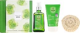 Parfüm, Parfüméria, kozmetikum Szett - Weleda Happy Skin (b/peel/150ml + b/oil/100ml + sh/sponge)