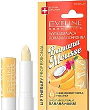 "Parfüm, Parfüméria, kozmetikum Ajak balzsam ""Banán mouse"" - Eveline Cosmetics Lip Therapy Smoothing Balm Banana Mousse"