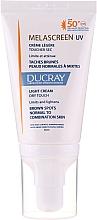 Parfüm, Parfüméria, kozmetikum Pigmentáció elleni gyengéd krém - Ducray Melascreen UV Light Cream SPF 50+