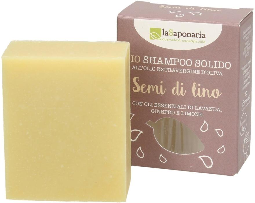 """Szilárd sampon """"Lenmag"""" - La Saponaria Hair Soap With Linseed Oil"""