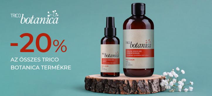 -20% kedvezmény az összes Trico Botanica termékre. A feltüntetett ár a kedvezményt is tartalmazza