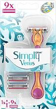 Parfüm, Parfüméria, kozmetikum Borotva 9 cserefejjel - Gillette Simply Venus 3