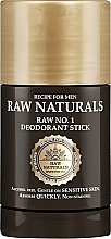 Parfüm, Parfüméria, kozmetikum Izzadásgátló stift - Recipe For Men RAW Naturals No. 1 Deodorant Stick