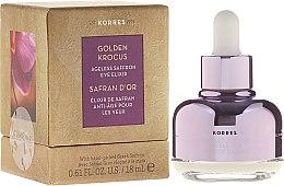 Parfüm, Parfüméria, kozmetikum Szemkörnyékápoló elixír - Korres Golden Krocus Ageless Eye Elixir