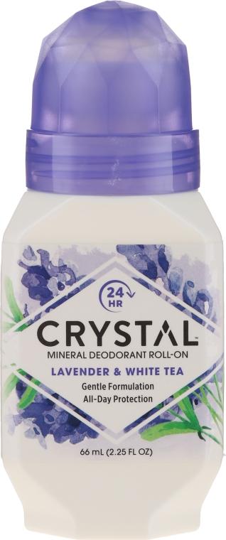 Golyós izzadásgátló levendula és fehér tea illattal - Crystal Essence Deodorant Roll-On — fotó N1