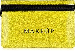 "Parfüm, Parfüméria, kozmetikum Szilikon neszeszer, arany ""Glitter Pouch"", 18x11cm - MakeUp"