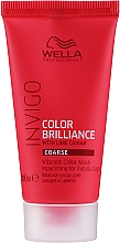 Parfüm, Parfüméria, kozmetikum Színvédő pakolás festett hajra - Wella Professionals Invigo Color Brilliance Vibrant Color Mask Coarse
