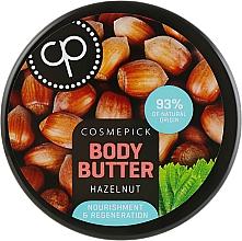 Parfüm, Parfüméria, kozmetikum Regeneráló testvaj erdei mogyoró kivonattal - Cosmepick Body Butter Hazelnut