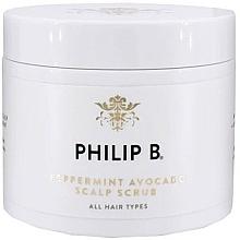 Parfüm, Parfüméria, kozmetikum Fejbőr radír mentával és avokádóval - Philip B Peppermint Avocado Scalp Scrub