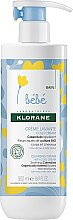 Parfüm, Parfüméria, kozmetikum Tisztítókrém gyerekeknek - Klorane Bebe Cleansing Cream with Cold Cream