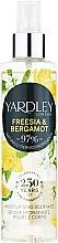 Parfüm, Parfüméria, kozmetikum Yardley Freesia & Bergamot - Spray testre