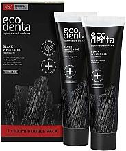 Parfüm, Parfüméria, kozmetikum Fekete fehérítő fogkrém, fluor mentes - Ecodenta Black Whitening Toothpaste Set