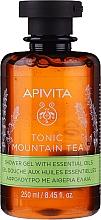 "Parfüm, Parfüméria, kozmetikum Tusfürdő illóolajokkal ""Hegyi tea"" - Apivita Tonic Mountain Tea Shower Gel with Essential Oils"