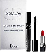 Parfüm, Parfüméria, kozmetikum Szett - Dior Diorshow Pump 'N' Volume Mascara & Lipstick Set (mascara/6ml+lipstick/1.5g)