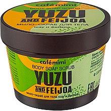 """Parfüm, Parfüméria, kozmetikum Testradír-szappan """"Yuzu és feijoa"""" - Cafe Mimi Body Soap Scrub Yuzu And Feijoa"""