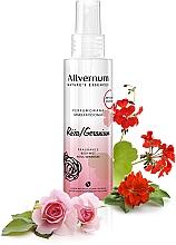 """Parfüm, Parfüméria, kozmetikum Parfümös testpermet """"Rózsa és muskátli"""" - Allverne Nature's Essences Body Mist"""