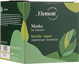 Parfüm, Parfüméria, kozmetikum Hajmaszk - _Element Basil Strengthening Anti-Hair Loss Mask