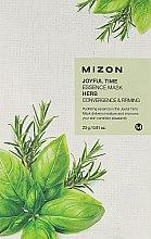 Parfüm, Parfüméria, kozmetikum Gyógynövényes szövetmaszk - Mizon Joyful Time Essence Mask Herb