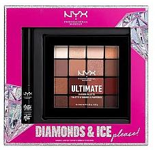 Parfüm, Parfüméria, kozmetikum Szett - NYX Professional Makeup Diamonds & Ice Please Shadow & Liner Set (sh/palette/16x1.18g+liner/2ml)