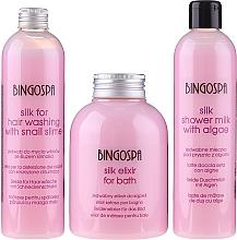 Parfüm, Parfüméria, kozmetikum Ajándékszett - BingoSpa Spa Cosmetics With Silk Set (show/milk/300ml + h/shm/300ml + bath/elixir/500ml)