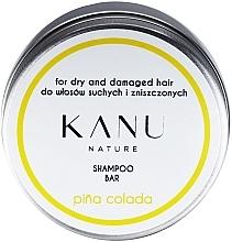 Parfüm, Parfüméria, kozmetikum Sampon száraz és sérült hajra, fém dobozban - Kanu Nature Shampoo Bar Pina Colada For Dry And Damaged Hair