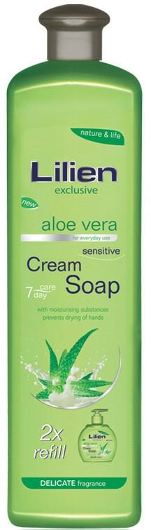 """Folyékony krémszappan """"Aloe vera"""" - Lilien Aloe Vera Cream Soap (utántöltő)"""