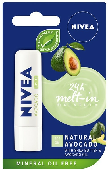 "Ajakbalzsam ""Avokádó"" - Nivea 24H Melt-in Natural Avocado Lip Balm SPF15"