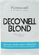 Parfüm, Parfüméria, kozmetikum Világosító por, kék - Kosswell Professional Decowell Blond