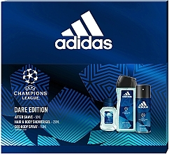 Parfüm, Parfüméria, kozmetikum Adidas UEFA Dare Edition - Szett (sh/gel/250ml + deo/spray/150ml + a/sh/lot/50ml)