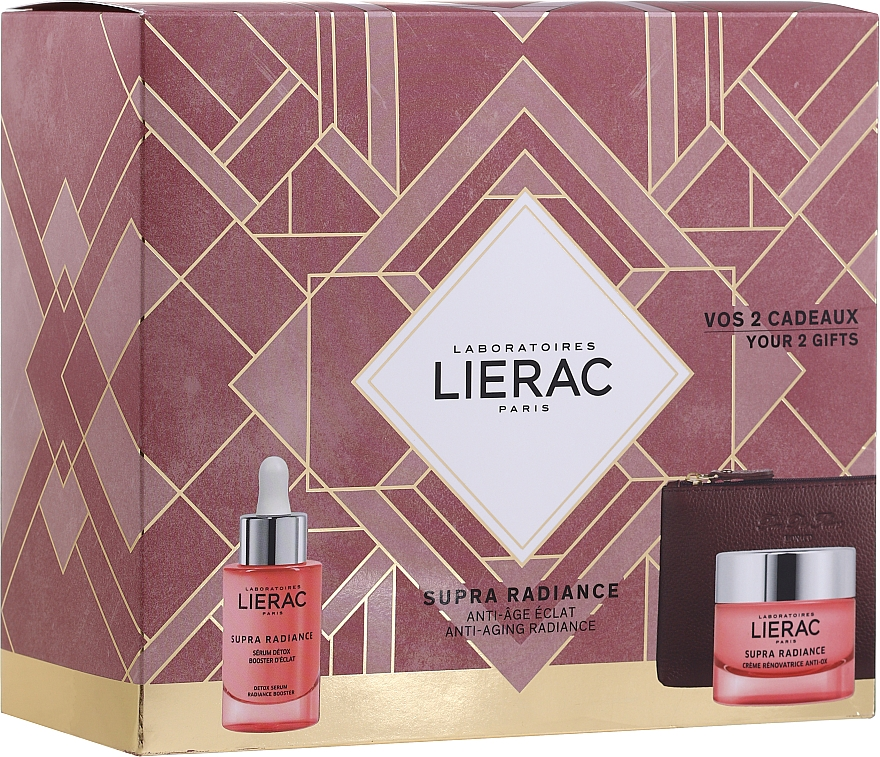 Készlet - Lierac Supra Radiance (serum/30ml + cr/50ml + bag)