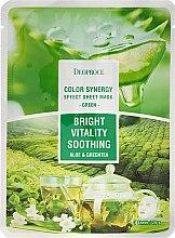 Parfüm, Parfüméria, kozmetikum Szövetmaszk aloe vera és zöld tea - Deoproce Color Synergy Effect Sheet Mask Green