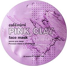 """Parfüm, Parfüméria, kozmetikum Arcmaszk """"Rózsaszín agyag és csipkebogyó"""" - Cafe Mimi Face Mask"""