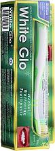 Parfüm, Parfüméria, kozmetikum Készlet fehér-zöld fogkefével - White Glo Herbal White (t/paste/100ml + t/brush/1pc)