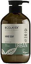 """Parfüm, Parfüméria, kozmetikum Folyékony szappan """"Bazsalikom és jojoba"""" - Ecolatier Urban Liquid Soap"""