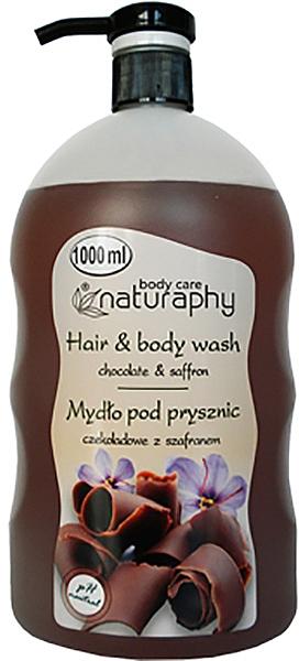 """Sampon és tusfürdő """"Csokoládé és sáfrány"""" - Bluxcosmetics Naturaphy Hair & Body Wash"""