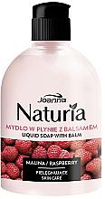 "Parfüm, Parfüméria, kozmetikum Folyékony szappan ""Málna"", flip top - Joanna Naturia Raspberry Liquid Soap"