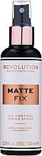 Parfüm, Parfüméria, kozmetikum Sminkfixáló spray - Makeup Revolution Matte Fix Oil Control Fixing Spray