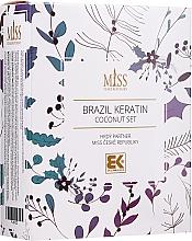 Parfüm, Parfüméria, kozmetikum Készlet - Brazil Keratin Coconut Set (sch/300ml + cond/300ml + oil/100ml)